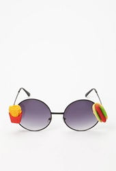 Forever 21 Rad And Refined Hot Dog And Fries Sunglasses Black Multi