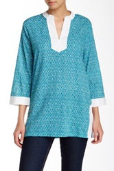 J. Mclaughlin Bailey Printed Tunic Blue