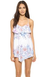 Shoshanna Summer Garden Dress White Multi