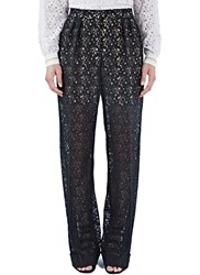 Stella Mccartney Wide Leg Lace Pants Black