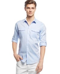 Inc International Concepts Men's Liam Long Sleeve Shirt Only At Macy's Light Blue