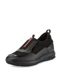 Prada Slip On Trainer Sneaker Black