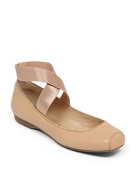 Dkny Mandalaye Leather Flats Natural