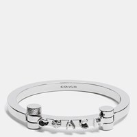 Coach Metal Hinged Bangle Silver