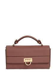 Salvatore Ferragamo Ably Grained Leather Shoulder Bag