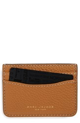 Women's Marc Jacobs 'Gotham' Leather Card Case Brown Maple Tan