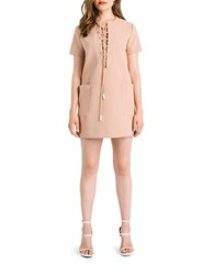 Kendall Kylie Lace Up Safari Dress Sepia