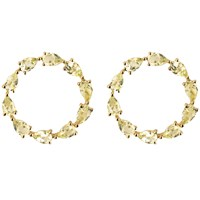 Emily Mortimer Jewellery Aqua Lemon Quartz Circle Earrings Gold Pink Purple