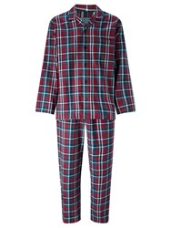 John Lewis Ashford Check Brushed Cotton Pyjamas Red Blue
