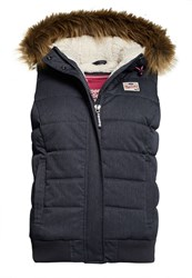 Superdry Marl Puffle Gilet Navy