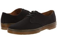 Dr. Martens Delray 3 Eye Black Overdyed Twill Canvas Men's Lace Up Casual Shoes