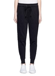 3.1 Phillip Lim Quilted French Terry Jogging Pants Black