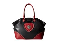 Love Moschino Studded Tote Bag Red Black Tote Handbags