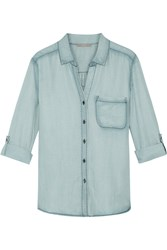 Tart Collections Steph Chambray Shirt Blue