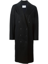 Vionnet Double Breasted Coat Black