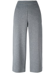 Akris Punto Elastic Waistband Cropped Trousers Grey