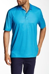 Cutter And Buck Intertidal Print Polo Blue