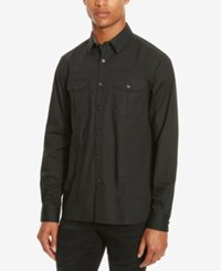 Kenneth Cole Reaction Men's Daimler Long Sleeve Shirt Black