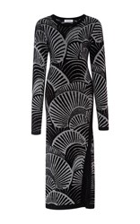 Rodebjer Sachs Long Sleeve Printed Dress Black White
