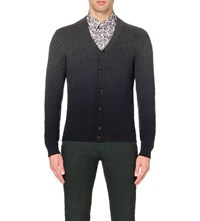 Ted Baker Conveks Sprayed Ombre Cardigan Charcoal