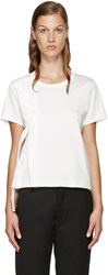 Noir Kei Ninomiya White Leather Ribbon T Shirt
