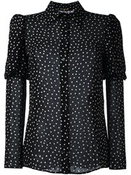 Saint Laurent Polka Dot Print Shirt Black