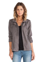 Velvet By Graham And Spencer Rida Cotton Twill Jacket Gray