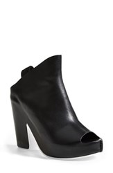 Women's Balenciaga Calfskin Leather Open Toe Platform Mule Black
