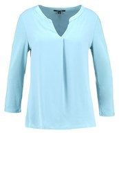 Comma Long Sleeved Top Arctic Blue Mint