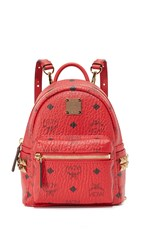 Mcm Side Stud Baby Backpack Ruby Red