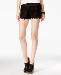 American Rag Tiered Laser Cut Faux Suede Shorts Only At Macy's Black
