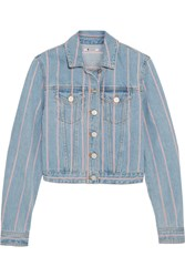 Alexander Wang Striped Denim Jacket Blue