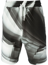 Christopher Kane Pages Print Shorts Grey