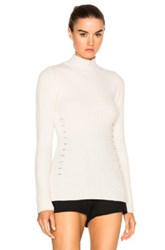 Thierry Mugler English Coste Sweater In White