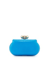Franchi Lisa Curved Edge Evening Clutch Bag Cobalt