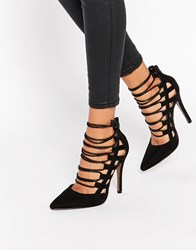Truffle Collection Skye Ghillie Heeled Shoes Black Mf