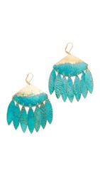 We Dream In Colour Alyssa Earrings Gold Turquoise