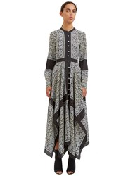 Altuzarra Winne Long Paisley Asymmetric Dress Black