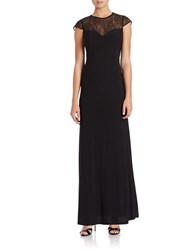 Hailey Logan Lace Illusion Gown Black