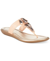 Bandolino Jesane Jeweled Thong Sandals Peach