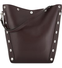 Mulberry Camden Studded Leather Hogo Bag Oxblood