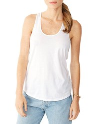 Alternative Apparel Cotton Racerback Tank Top White