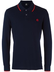 Paul Smith Ps By Longsleeved Polo Shirt Blue