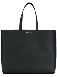 Orciani Logo Plaque Tote Black