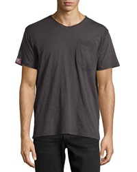 Robert Graham V Neck Pocket Tee Black
