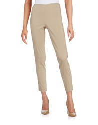 T Tahari Dayna Textured Ankle Pants British Khaki
