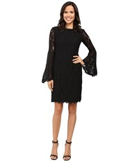 Nue By Shani Sheath Dress With Bell Sleeves Black Women's Dress