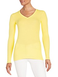 Atm Anthony Thomas Melillo Solid Long Sleeves Top Yellow