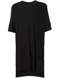 Barbara I Gongini Oversized Layered T Shirt Black