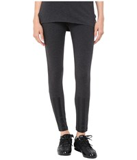 Yohji Yamamoto Jersey Leggings Charcoal Melange Women's Casual Pants Gray